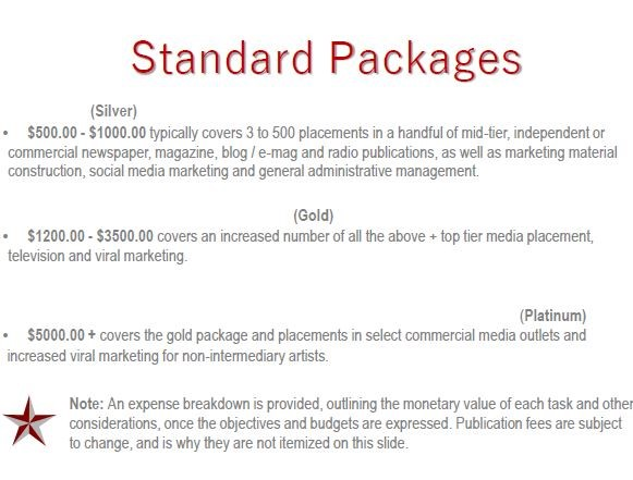 Standard Packages